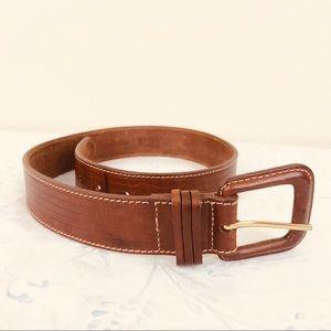 Land's End Genuine Leather Belt, Lt. Brown Sz 28